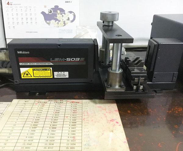 激光尺寸檢測